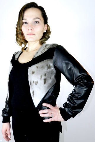 Harp Sealskin and Leather Blazer