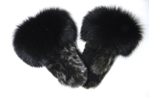 Natural Ring Sealskin Mitts