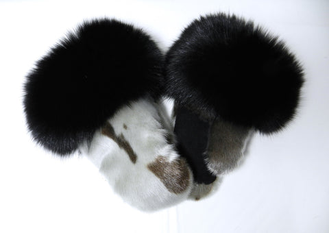Natural Harp Sealskin Mitts