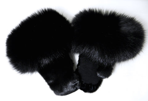 Black Sealskin Mitts