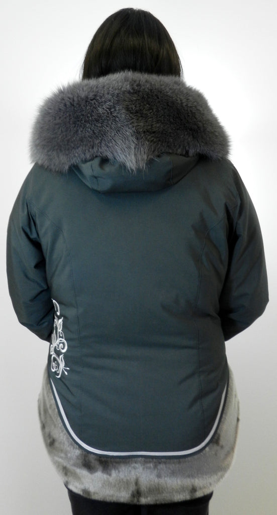 V.A.F. Signature w/ Sealskin Trim and Off-Side Zipper
