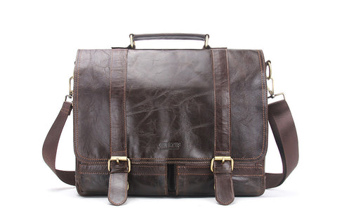 A vintage style leather bag perfect for your laptop