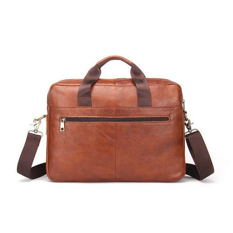 Brown leather bag , briefcase for chaps