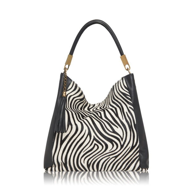 Animal Print Italian Leather Hobo