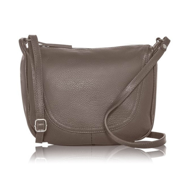 Marsala Italian Soft Leather Crossbody Saddle Bag
