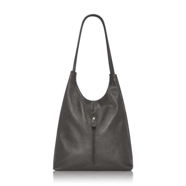Saluzzo Low Slung Leather Shoulder Bag