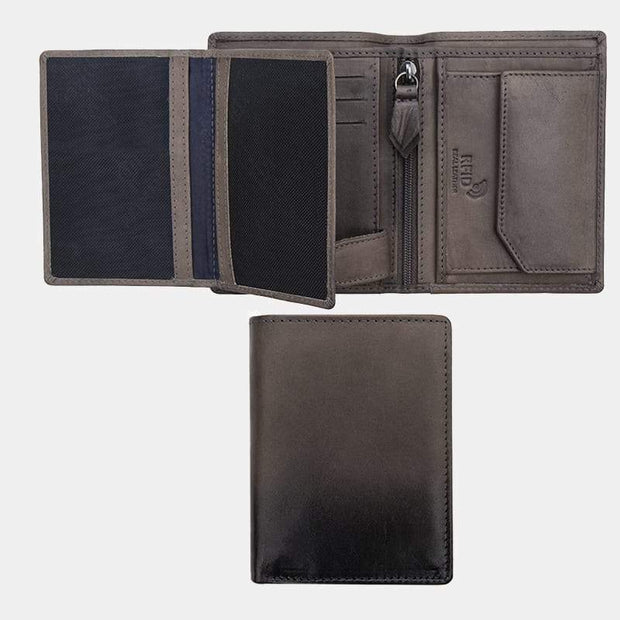Cherokee Vertical Trifold Mens Leather Wallet - Lusso Borsetta