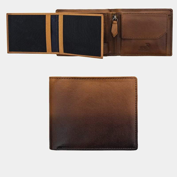 Cherokee Trifold Mens Leather Wallet - Lusso Borsetta