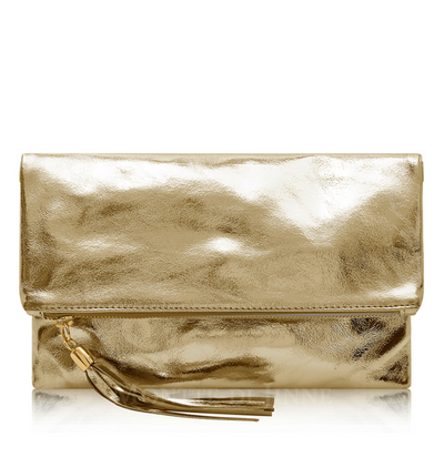 Metallic Clutch Purse - Lusso Borsetta