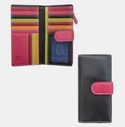 London Multi Colour Leather Purse