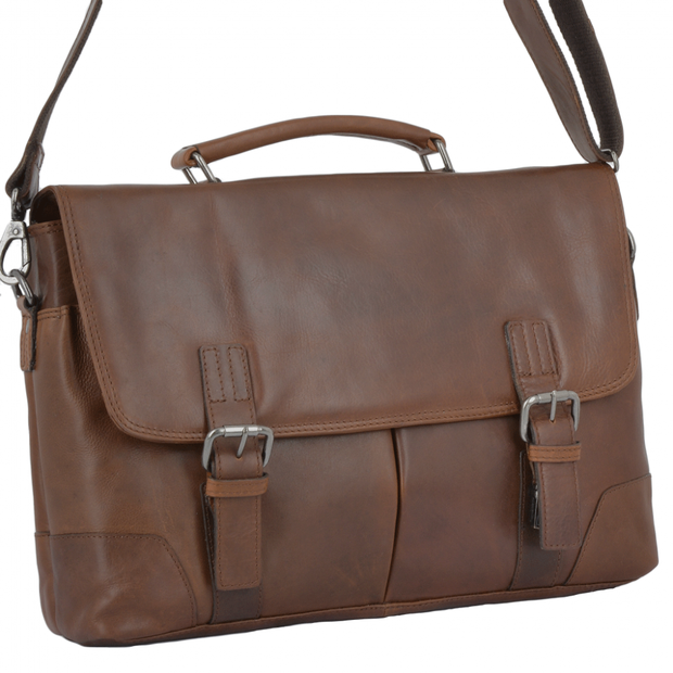 Elliot Soft Leather Handcrafted Briefcase - Lusso Borsetta