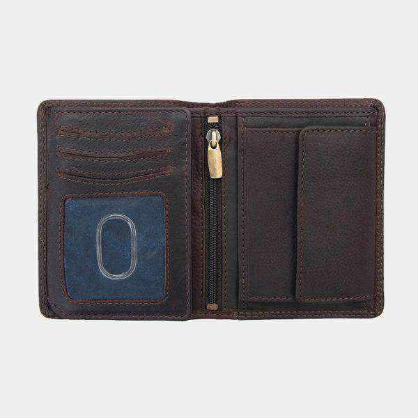Carson Vertical Trifold Men's Leather Wallet-Leather Wallet-Borsetta Online