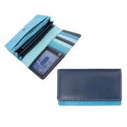 London Soft Colourful Leather Matinee Purse with RFID Protection in Five Colours - Lusso Borsetta