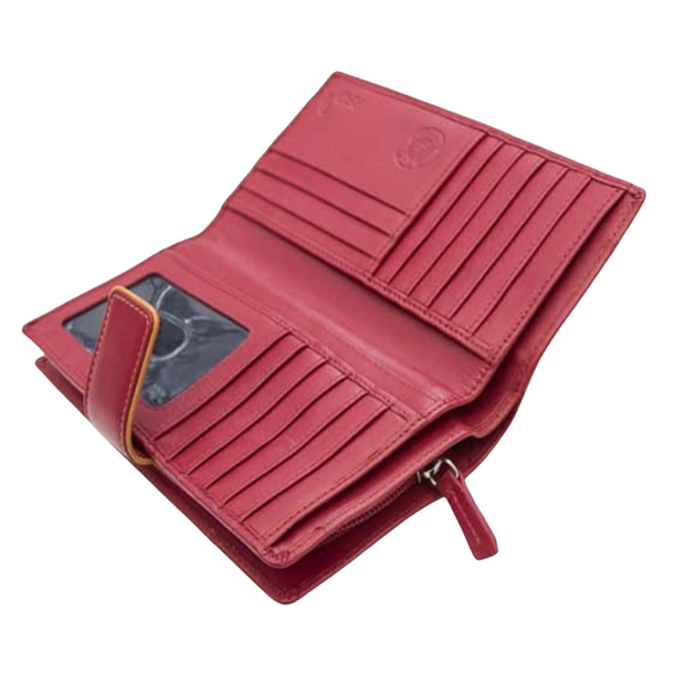 Hatty Leather Purse with RFID Card Safe Protection - Lusso Borsetta