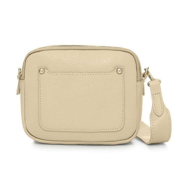 Outer pocket leather crossbody bag-Borsetta Online-Borsetta Online