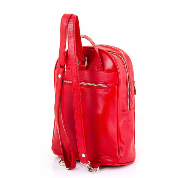 Ozzell Handmade Soft Stamped Leather Backpack-Leather Backpack-Borsetta Online
