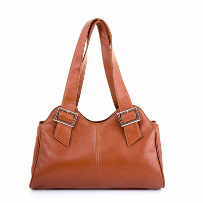 Ozzell Premium Buckle Soft Leather Handbag-Leather Bag-Borsetta Online