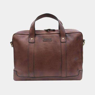 Ridgeback Briefcase Business Bag-Leather Briefcase-Borsetta Online