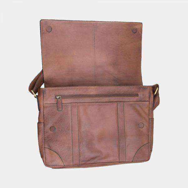 Ridgeback Men's Leather Messenger Bag-Messenger Bag-Borsetta Online