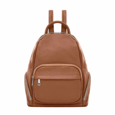 Rimini Italian Leather Backpack-Leather Backpack-Borsetta Online