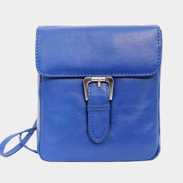 Women's Small Buckle Leather Crossbody Bag-Crossbody Bags-Borsetta Online