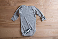Ultra Soft, Heather Grey (UNISEX) Baby/Infant, Long Sleeve Onesie