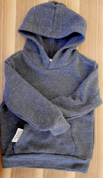 Triblend, Ultra Soft, (UNISEX) Denim Blue Hoody Sweatshirt