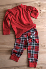 UNISEX, Holiday, Plaid Infant/Toddler Pajama Sets