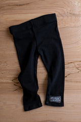 Super Cute, Spandex Jersey Leggings, Black