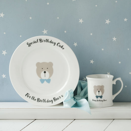 Happy Birthday Bear Plate
