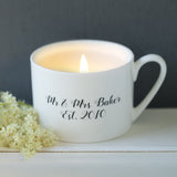 Personalised Scented Candle Cup