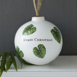 Botanical Leaf Print Bauble
