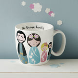 Japanese Kokeshi Doll Personalised Mug