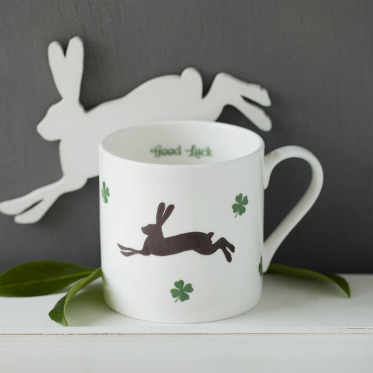 Lucky Hare Personalised Cup or Mug