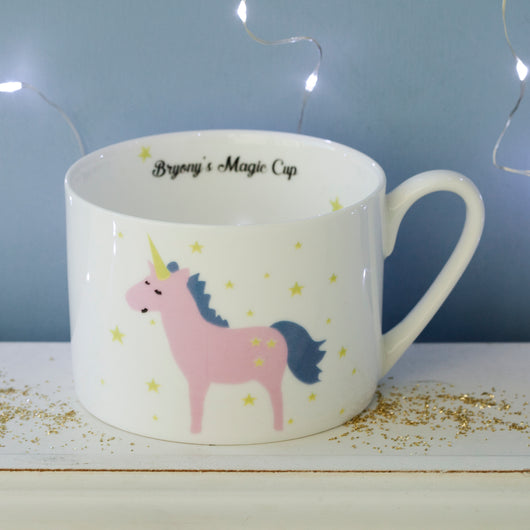 Personalised Unicorn Magical Morning Cup