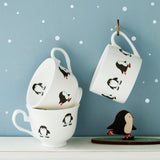 Skating Penguins Personalised Christmas China Cup