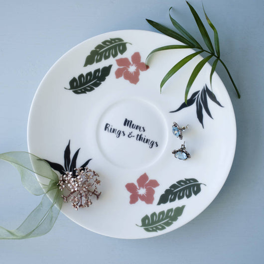 Botanical Personalised Jewellery Saucer