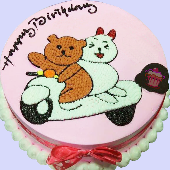 Couple Bear Cake