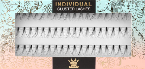 Knot-free Cluster Lash Extensions Natural - All Lengths
