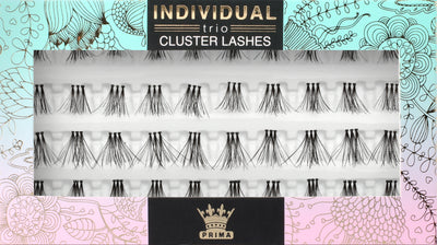 TRIO Natural Cluster lash extensions Mixed length