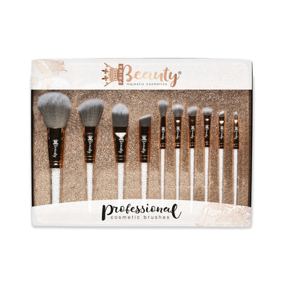 Crystal filled Makeup brushes (full set) White