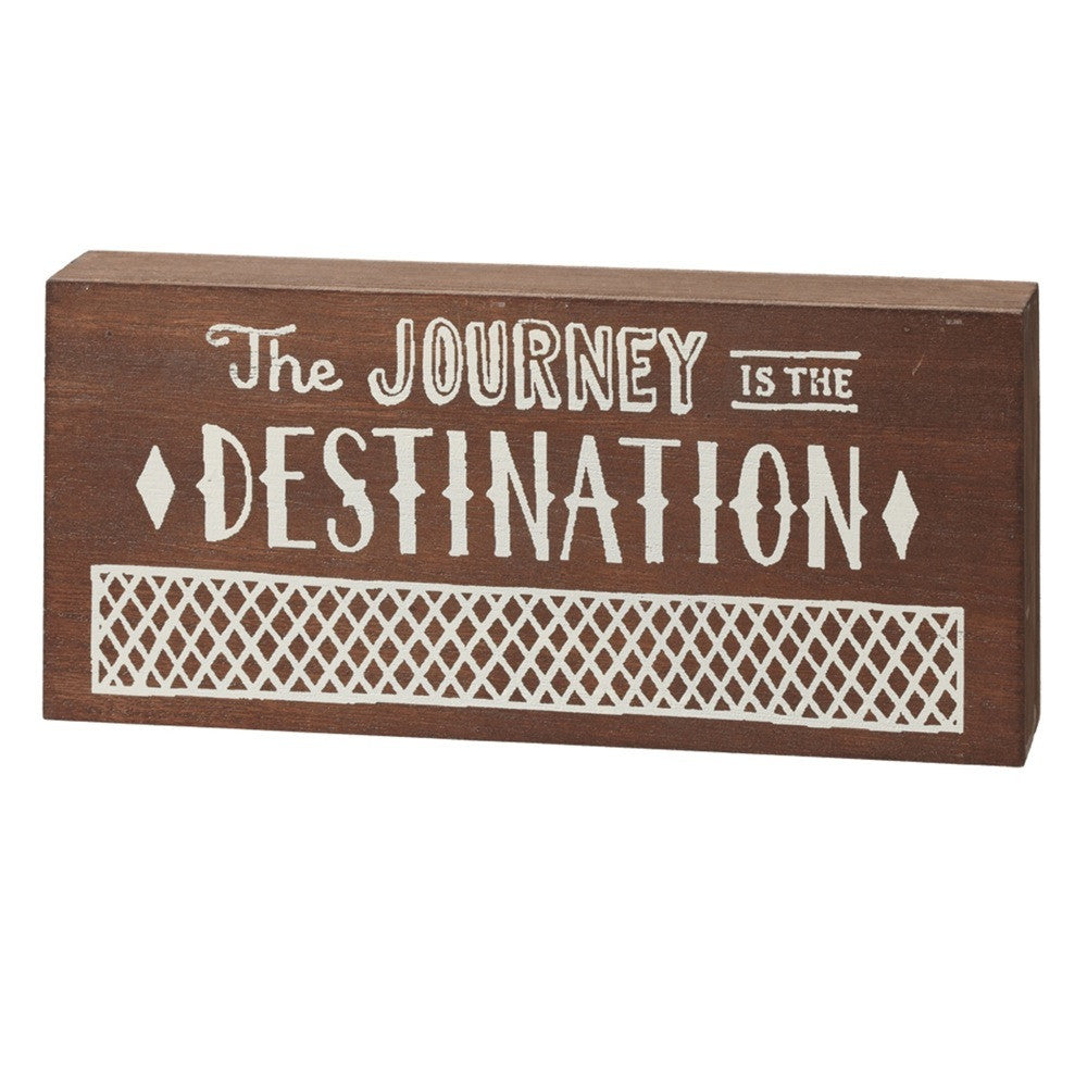 Journey Wood Block Sign