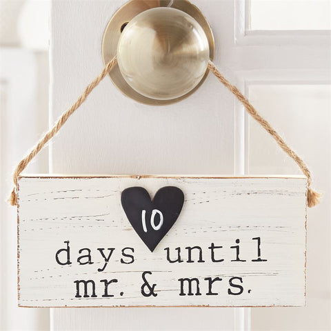 Wedding Small Hanging Sign