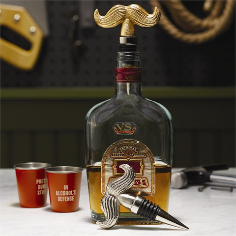 Mustache Bottle Topper