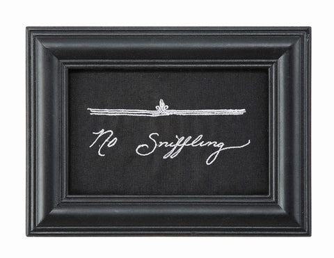 No Sniffling Framed Wall Sign