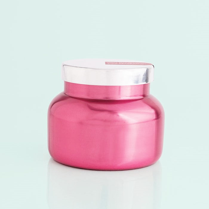 8 oz Metallic Pink Candle Jar - Pink Peppermint