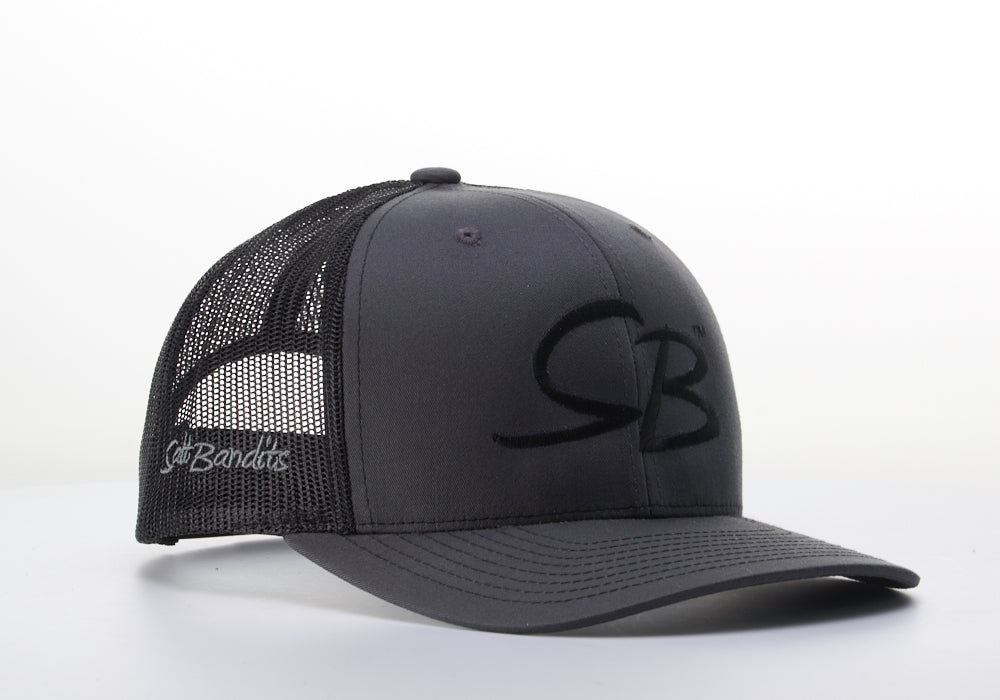 SaltBandits™  Trucker Hat Charcoal/Black