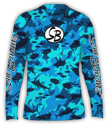 SaltBandits™ Water Camouflage Performance Long Sleeve T-Shirt