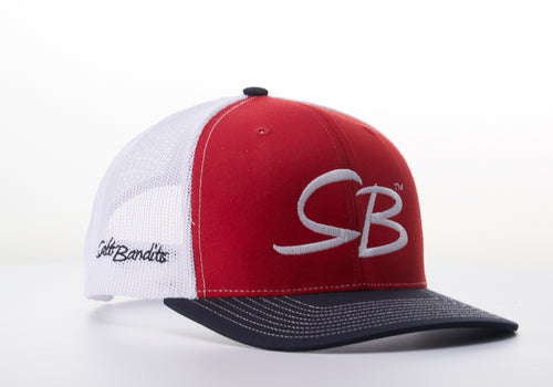 SaltBandits™  Trucker Hat Red, White and Blue