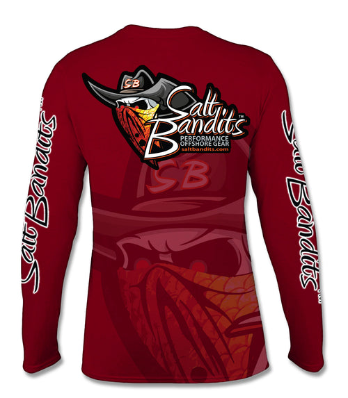 SaltBandits™ Ghosted Tuna Logo Performance Long Sleeve T-shirt